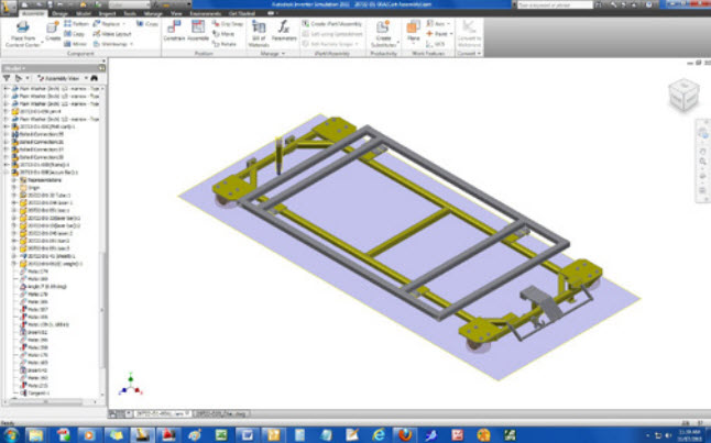 HSC designs a cart in Inventor