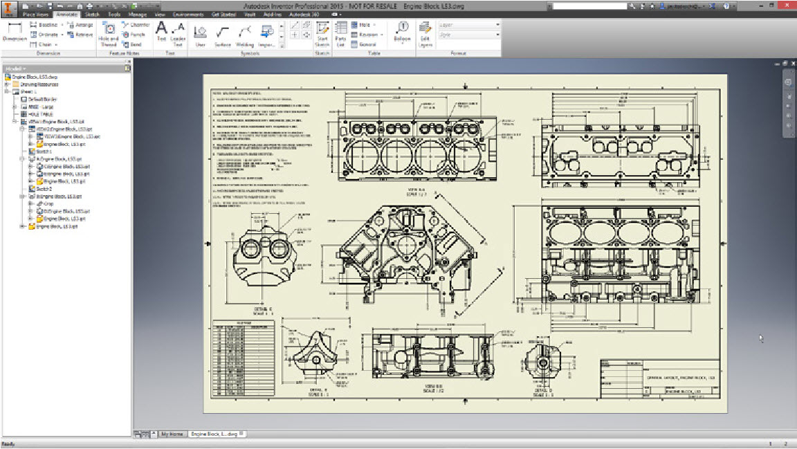 Autodesk HSM CAM for Inventor blueprint