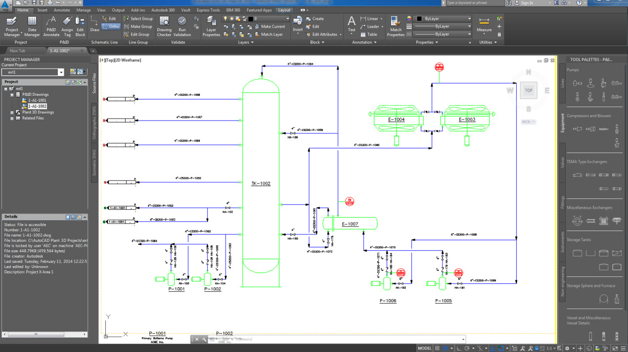 AutoCAD electrical plant design rendering