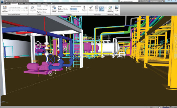 real time navigation autodesk plant 3d plant and process